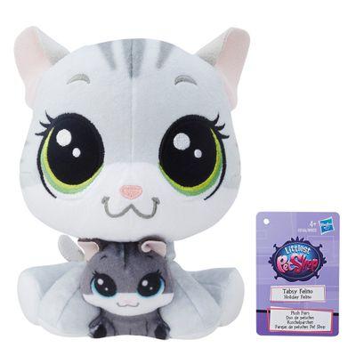 pelucia-littlest-pet-shop-mamae-e-filho-tabsy-felino-holiday-felino-hasbro