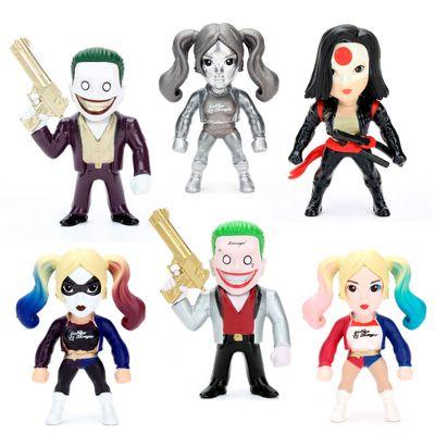 Kit-6-Figuras-Colecionaveis-6-Cm---Metals---DC-Comics---Suicide-Squad-e-Harley-Quinn-Prata---DTC