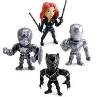 Kit-4-Figuras-Colecionaveis-10-Cm---Metals---Disney---Marvel---Civil-War---DTC