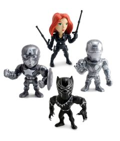 Kit-4-Figuras-Colecionaveis-10-Cm---Metals---Disney---Marvel---Civil-War---DTC