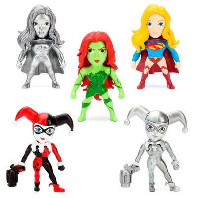 Kit-5-Figuras-Colecionaveis-6-Cm---Metals---DC-Comics---Super-Hero-Girls---DTC