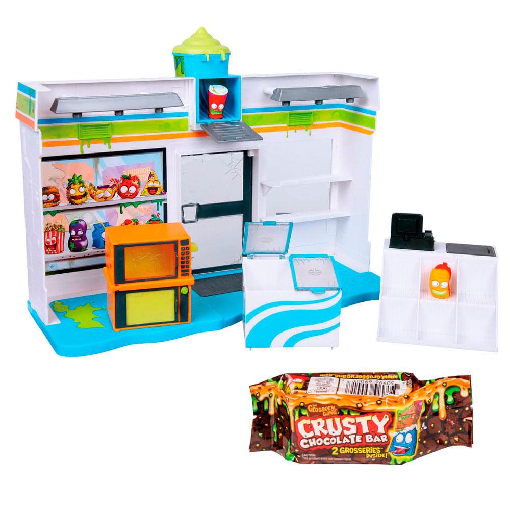 Kit Playset e Mini Figuras Sortidas - Trash Pack - Grossery Gang - Barra de Chocolate e Yucky Mart - DTC