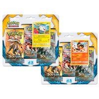 Kit-Decks-Pokemon---2-Triple-Pack---Pokemon-Sol-e-Lua---Litten-e-Togedemaru---Copag
