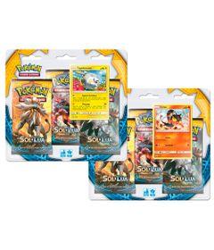 Kit-Decks-Pokemon---2-Triple-Pack---Pokemon-Sol-e-Lua---Litten-e-Togedemaru---Copag