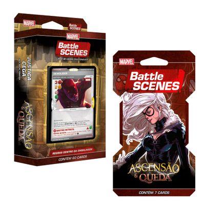 Kit Decks Battle Scenes - Disney - Marvel - Ascensão e Queda - Demolidor e Gata Negra - Copag