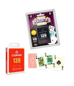 Kit-Jogos-de-Cartas---Baralho-Profissional-139-Vermelho-e-Jogo-Super-Magicas---Copag