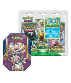 Kit-Decks-Pokemon---Lata-Pokemon-EX---Magearna-e-Blister-Triplo---Froakie---Copag