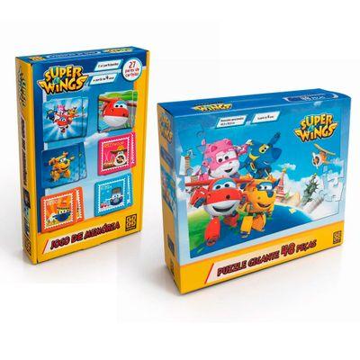kit-de-jogos-super-wings-jogo-da-memoria-e-quebra-cabeca-48-pecas-gigante-grow