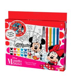 Conjunto-de-Artes---Relogio-para-Colorir---Disney---Minnie-Mouse---New-Toys