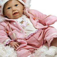 Boneca-Bebe-com-Acessorios---Reborn---Cuddle-Bear-Bell---Shiny-Toys