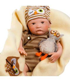 Boneca-Bebe-com-Acessorios---Reborn---Pelucia-Hoot-Hoot---Shiny-Toys