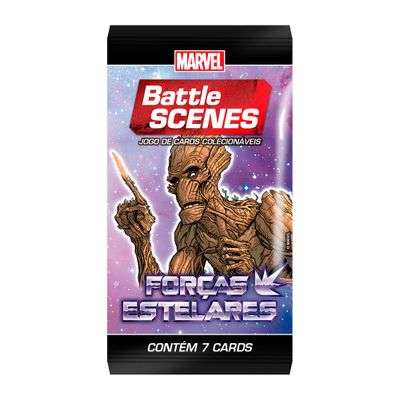 Deck Battle Scene - Booster Unitário - Marvel - Forças Estelares - Groot - Copag