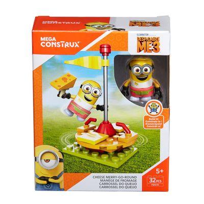 Blocos de Montar - Mega Construx - Meu Malvado Favorito 3 - Minions - Carrossel do Queijo - Mattel