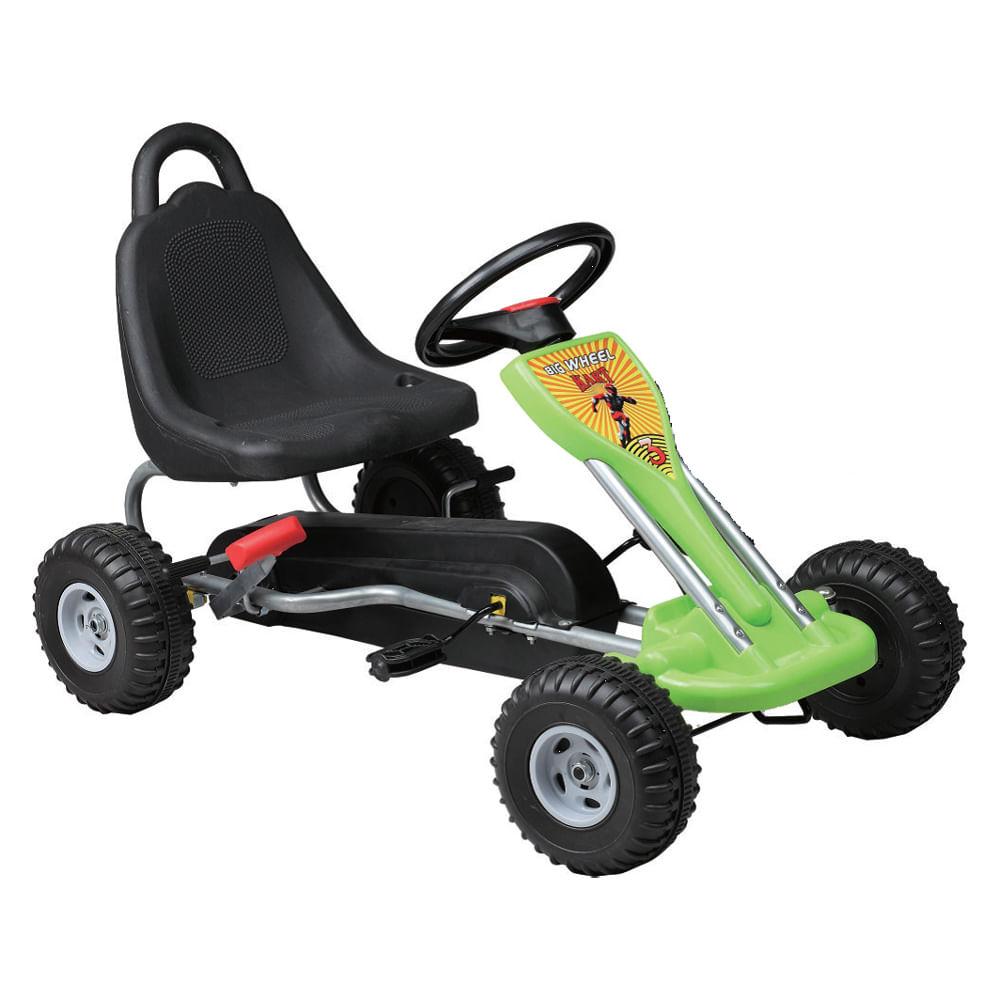 Mini Kart com Pedal - Verde - Uni Toys