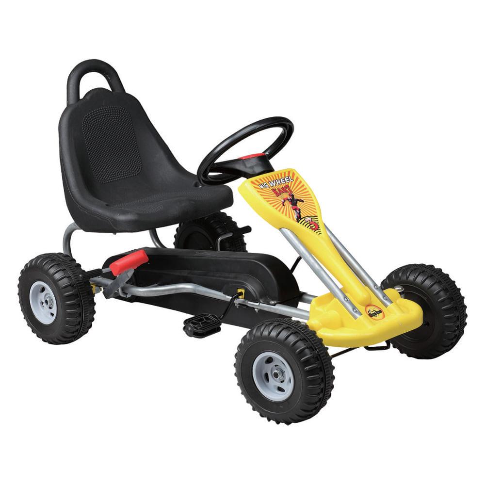 Mini Kart com Pedal - Amarelo - Uni Toys