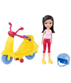 Motocicleta-Scooter-da-Polly-Pocket---Crissy-com-Scooter-Amarela---Mattel