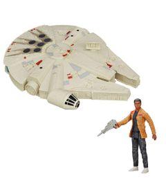 Kit-Figura-Articulada-15-Cm-e-Veiculo-25-Cm---Disney---Star-Wars---Episodio-VII---Finn-Jakku-e-Millenium-Falcon---Hasbro