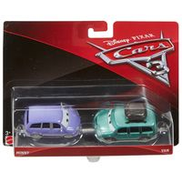 Carrinho-Die-Cast---Pack-com-2-Veiculos---Disney---Pixar---Cars-3---Minny-e-Van---Mattel