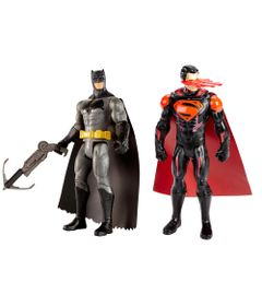 Kit-de-Figuras-Articuladas---16-Cm---DC-Comics---Batman-Vs-Superman---Batman-com-Arpel-e-Superman---Mattel