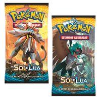 Kit-Cards-Pokemon---Sol-e-Lua---Blister-Unitario---Solgaleo-e-Decidueye---Copag