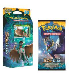 Kit-Cards-Pokemon---Sol-e-Lua---Starter-Deck-Sombra-Florestal-e-Blister-Unitario-Lunala---Copag