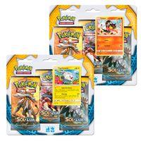 Kit-Cards-Pokemon---Triple-Deck---Sol-e-Lua---Litten-e-Togedemaru---Copag