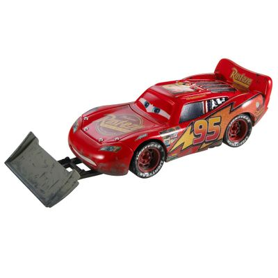 Veiculo-Basico-Die-Cast---Disney-Cars---Lightning-McQueen-With-Shovel---Mattel