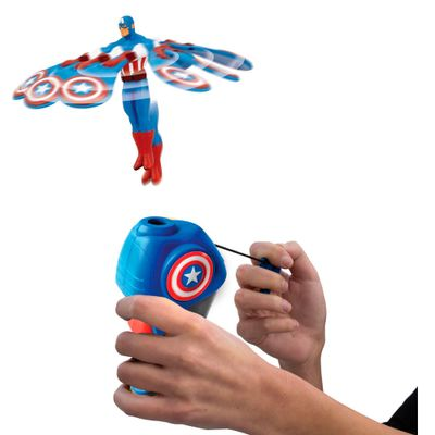 Lancador-e-Figura---Mini-Flying-Heroes---Disney---Marvel---Capitao-America---DTC