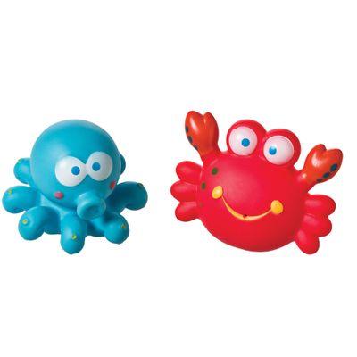 Brinquedo para Banho - Animais do Mar - Carangueijo e Polvo - Girotondo Baby