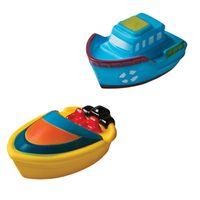 Brinquedo-para-Banho---Barquinhos---Azul-e-Amarelo---Girotondo-Baby