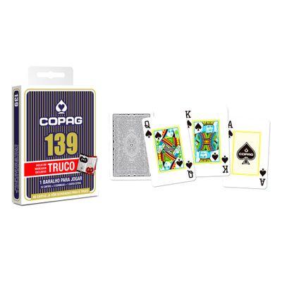 Jogo de Cartas - Baralho Profissional - 139 Truco - Azul - Copag