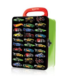 Maleta-Metalica---Hot-Wheels---Box-para-18-Carrinhos---Verde---Fun