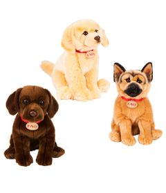 Kit-Pelucias-30-Cm---F.A.O---Cachorros---Labrador-Golden-Retriever-e-Pastor-Alemao---New-Toys