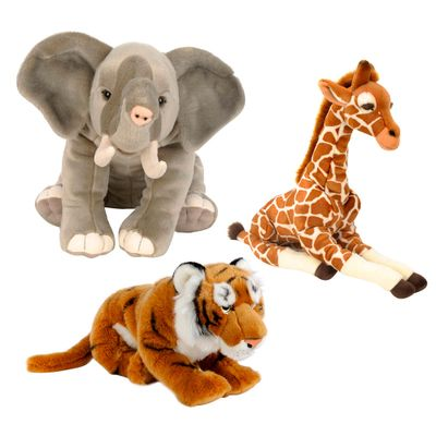 Kit-Pelucias-30-Cm---F.A.O---Tigre-Elefante-e-Girafa---New-Toys