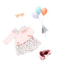 Conjunto-Roupas-para-Bonecas---Our-Generation---Vestido-de-Gatinho