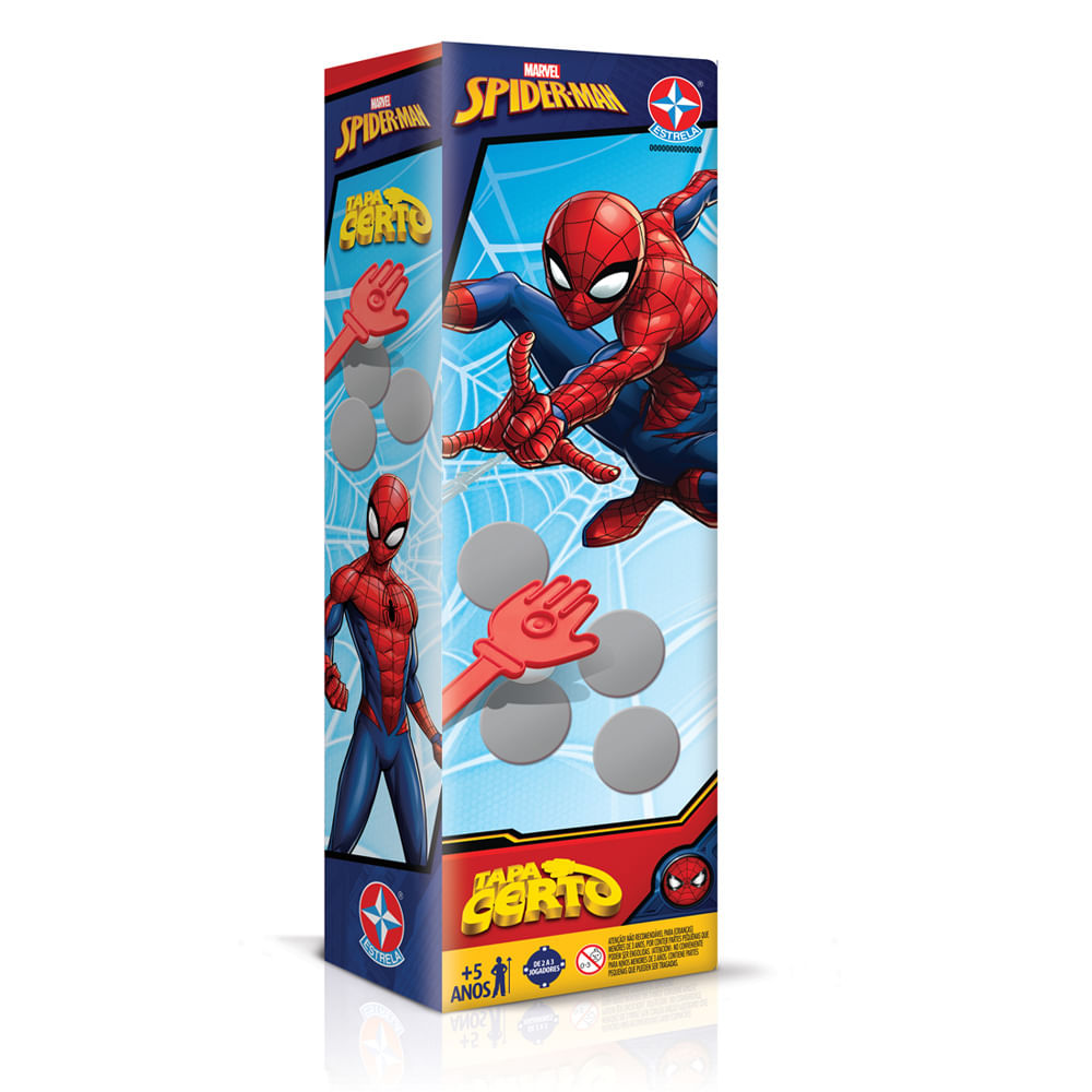 Jogo Tapa Certo - Spider-Man - Marvel - Estrela