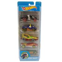 Carrinhos-Hot-Wheels---Pacote-com-5-Carros---Street-Beasts---Mattel