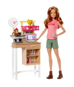 Playset-e-Boneca-Barbie---Profissoes---Barbie-Veterinaria---Mattel