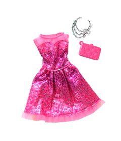 Roupinha-para-Boneca-Barbie---Look-Completo---Vestido-Pink-com-Colares---Mattel