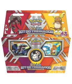 Deck-Pokemon---Kit-do-Treinador---Pokemon-Sol-e-Lua---Lycanroc-e-Raichu-de-Alola---Copag