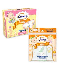 Kit-de-Acessorios-Baby-com-Fralda-de-Luxo-e-Paninho-de-Boca---Meninas---Cremer