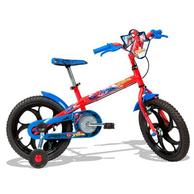 Bicicleta ARO 16 - Disney - Marvel - Spider-Man - Caloi