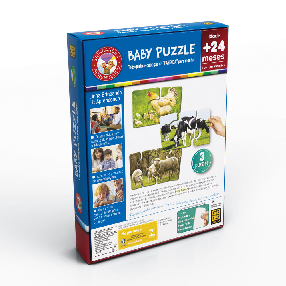 Quebra-Cabeça - Baby Puzzle 2 - Grow