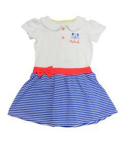Vestido-Manga-Curta-com-Gola-Olivia-em-Cotton---Branco-e-Azul-Royal---Be-Minnie---Disney---1