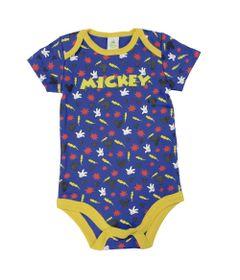 Body-Manga-Curta-em-Suedine---Azul-e-Amarelo---Be-Mickey---Disney---P