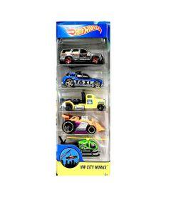 Carrinhos-Hot-Wheels---Pacote-com-5-Carros---HW-CITY-WORKS-2017---Mattel
