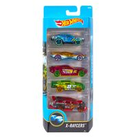 Carrinhos-Hot-Wheels---Pacote-com-5-Carros---X-RAYCERS-2017---Mattel