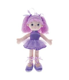 Boneca-de-Pano---42-cm---Bailarina-com-Glitter---Lilas---Buba