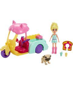 Boneca-e-Veiculo---Polly-Pocket---Polly-e-Carrinho-dos-Bichos---Mattel