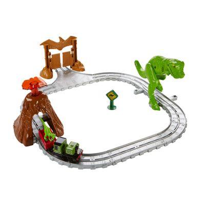 Pista de Percurso - Thomas & Friends - Parque dos Dinossauros de Earl - Fisher-Price